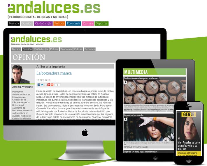 Diseño página web AndalucesDiario.es